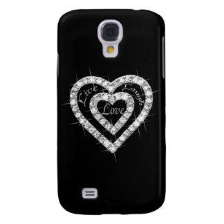 Live Laugh Love Diamond Heart HTC Vivid Phone Case HTC Vivid Cases