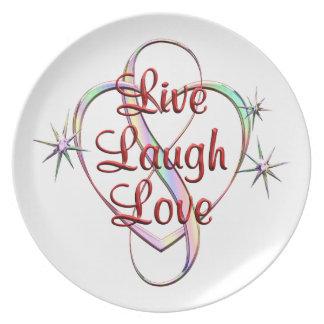 Live Laugh Love Dinner Plate