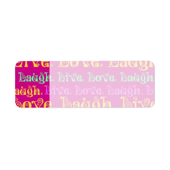 Live Laugh Love Encouraging Words Hot Pink Fuchsia