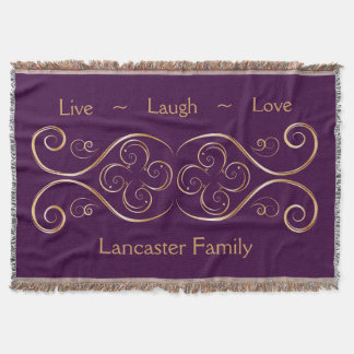 Live Laugh Love Family Custom Throw Blanket