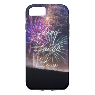 Live Laugh Love Fireworks Phone Case