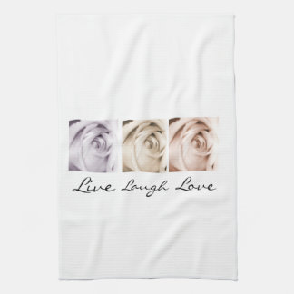 live,laugh,love floral kitchen towel