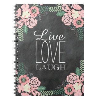 Live Laugh Love Floral Notebook
