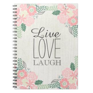 LIve Laugh Love Floral Notebook