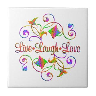 Live Laugh Love Flourish Tile