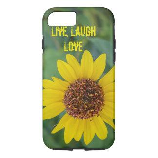 Live, Laugh, Love, Flower iPhone 7 Case