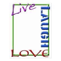 Live Love Laugh Picture Frames on Live Laugh Love Postcard Templates  Live Laugh Love Post Card