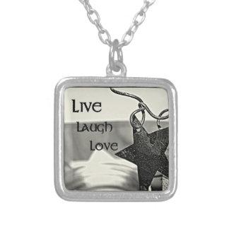 Live, Laugh, Love Inspirational necklace