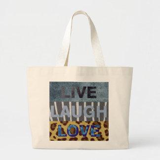 Live Laugh Love Jumbo Tote Bag