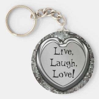 Live, Laugh, Love! Keychain