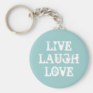 Live laugh love keychain with inspirational quote