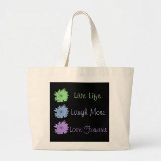 Live Laugh Love Large Tote Bag