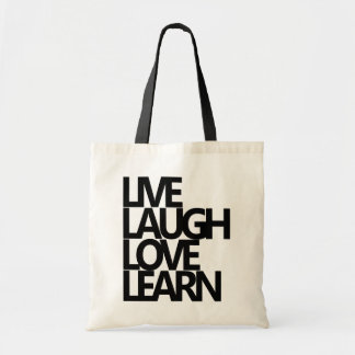 LIVE LAUGH LOVE LEARN BUDGET TOTE BAG