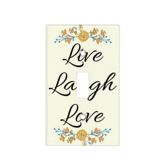 Live Laugh Love Light Switch Cover