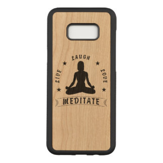 Live Laugh Love Meditate Female Text (blk) Carved Samsung Galaxy S8+ Case
