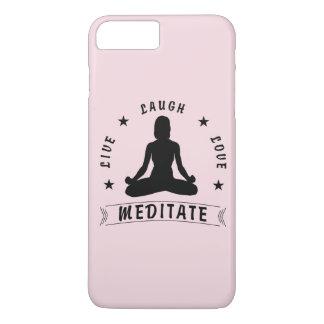 Live Laugh Love Meditate Female Text (blk) Case-Mate iPhone Case