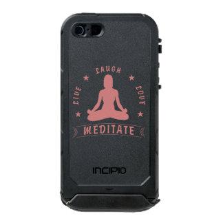 Live Laugh Love Meditate Female Text (blk) Incipio ATLAS ID™ iPhone 5 Case