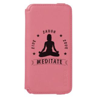 Live Laugh Love Meditate Female Text (blk) Incipio Watson™ iPhone 6 Wallet Case