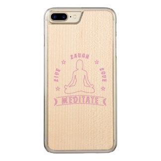Live Laugh Love Meditate Female Text (neon) Carved iPhone 8 Plus/7 Plus Case