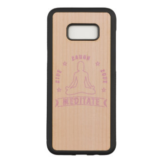 Live Laugh Love Meditate Female Text (neon) Carved Samsung Galaxy S8+ Case