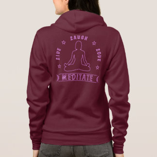 Live Laugh Love Meditate Female Text (neon) Hoodie