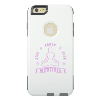 Live Laugh Love Meditate Female Text (neon) OtterBox iPhone 6/6s Plus Case