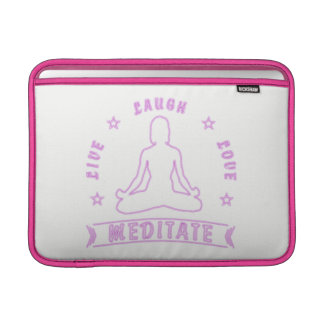 Live Laugh Love Meditate Female Text (neon) Sleeve For MacBook Air