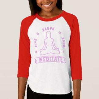 Live Laugh Love Meditate Female Text (neon) T-Shirt
