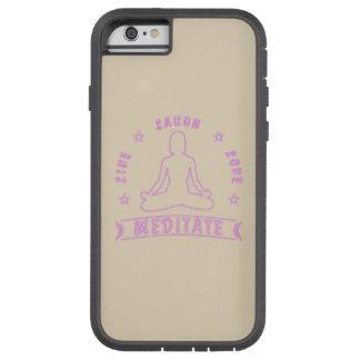 Live Laugh Love Meditate Female Text (neon) Tough Xtreme iPhone 6 Case