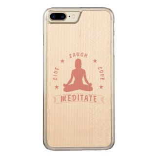 Live Laugh Love Meditate Female Text (pink) Carved iPhone 8 Plus/7 Plus Case