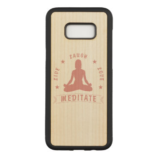 Live Laugh Love Meditate Female Text (pink) Carved Samsung Galaxy S8+ Case