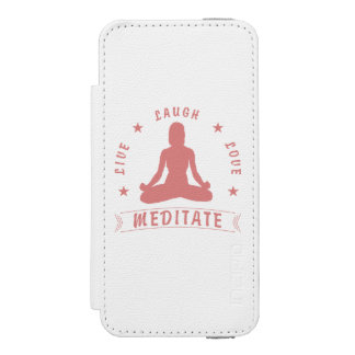 Live Laugh Love Meditate Female Text (pink) Incipio Watson™ iPhone 5 Wallet Case