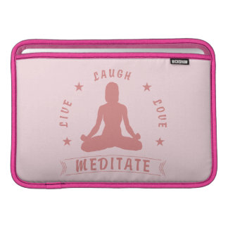 Live Laugh Love Meditate Female Text (pink) Sleeve For MacBook Air