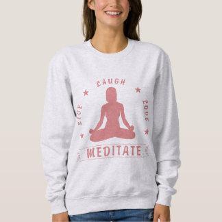 Live Laugh Love Meditate Female Text (pink) Sweatshirt