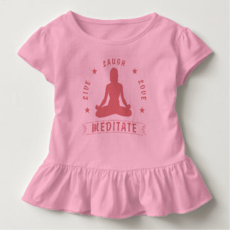 Live Laugh Love Meditate Female Text (pink) Toddler T-shirt