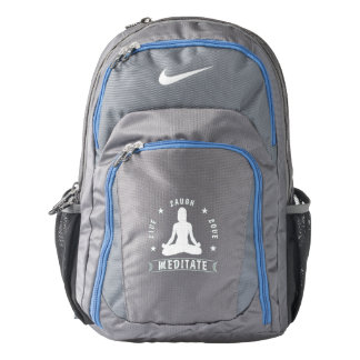Live Laugh Love Meditate Female Text (wht) Backpack