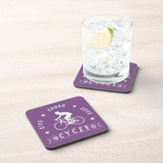 Live Laugh Love Meditate Female Text (wht) Coaster