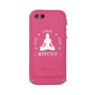 Live Laugh Love Meditate Female Text (wht) Incipio ATLAS ID™ iPhone 5 Case