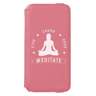 Live Laugh Love Meditate Female Text (wht) Incipio Watson™ iPhone 6 Wallet Case