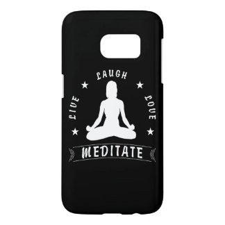 Live Laugh Love Meditate Female Text (wht) Samsung Galaxy S7 Case