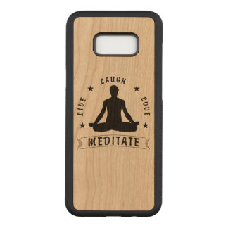 Live Laugh Love Meditate Male Text (blk) Carved Samsung Galaxy S8+ Case