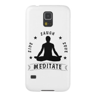 Live Laugh Love Meditate Male Text (blk) Case For Galaxy S5