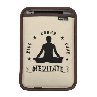 Live Laugh Love Meditate Male Text (blk) iPad Mini Sleeve