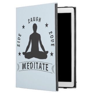 "Live Laugh Love Meditate Male Text (blk) iPad Pro 12.9"" Case"