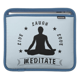 Live Laugh Love Meditate Male Text (blk) iPad Sleeve