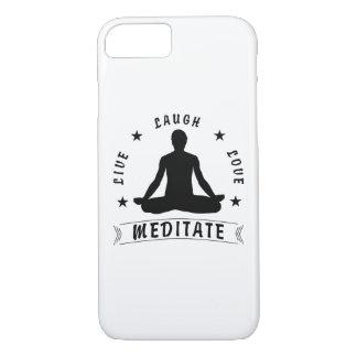 Live Laugh Love Meditate Male Text (blk) iPhone 8/7 Case