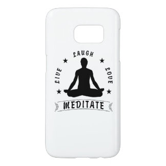 Live Laugh Love Meditate Male Text (blk) Samsung Galaxy S7 Case