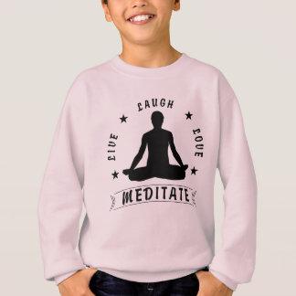 Live Laugh Love Meditate Male Text (blk) Sweatshirt