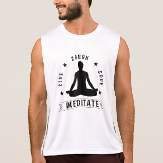Live Laugh Love Meditate Male Text (blk) Tank Top