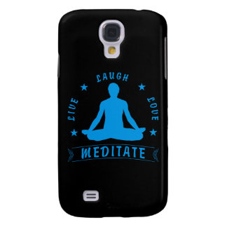 Live Laugh Love Meditate Male Text (blue)